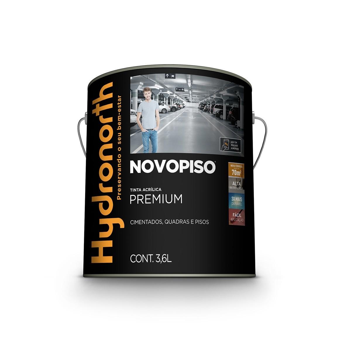 Tinta Acrilica Fosco Premium 36L - Laranja Novo Piso - Novopiso Hydronorth