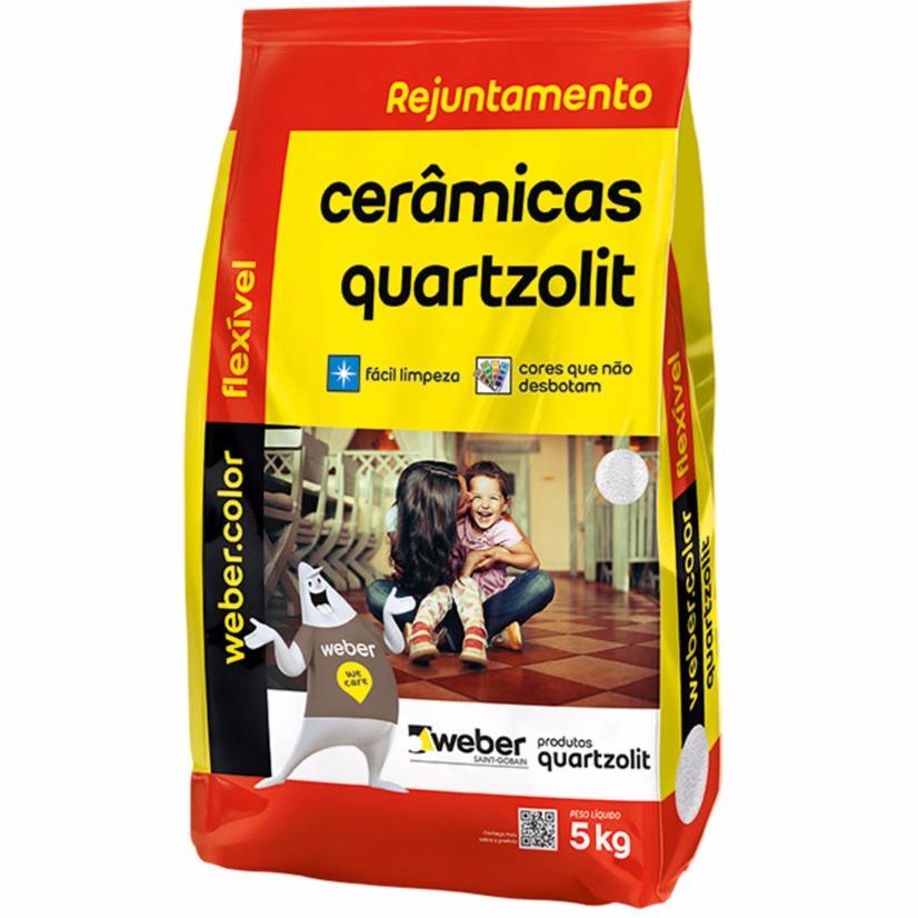 Rejunte Flexivel Weber Branco Saco5kg - Quartzolit
