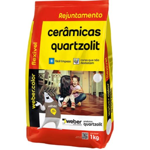Rejunte Flexivel Weber Cinza Outono Saco1kg - Quartzolit