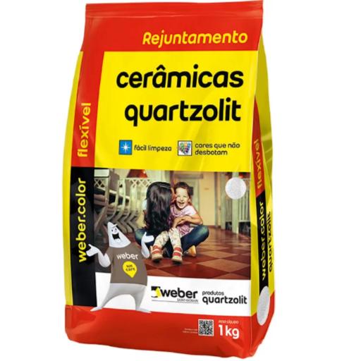Rejunte Flexivel Weber Cinza Platina Saco1kg - Quartzolit