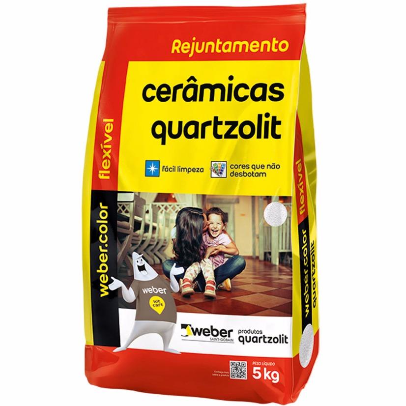 Rejunte Flexivel Weber Cinza Platina Saco5kg - Quartzolit