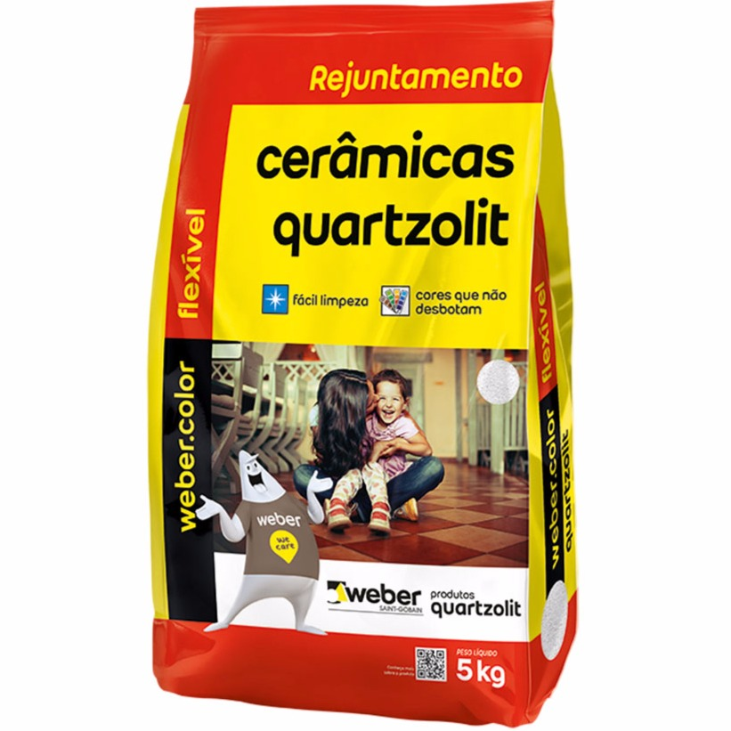Rejunte Flexivel Weber Marfim Saco5kg - Quartzolit