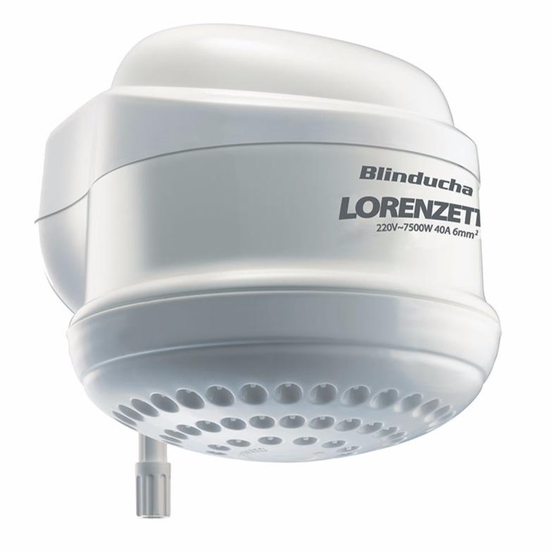 Chuveiro Eletronico Blindado 7500W 220V Resistencia Branco - Blinducha Lorenzetti