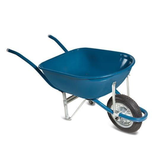 Carro de Mao Aco Carbono Pneu Camara Azul - Metalosa
