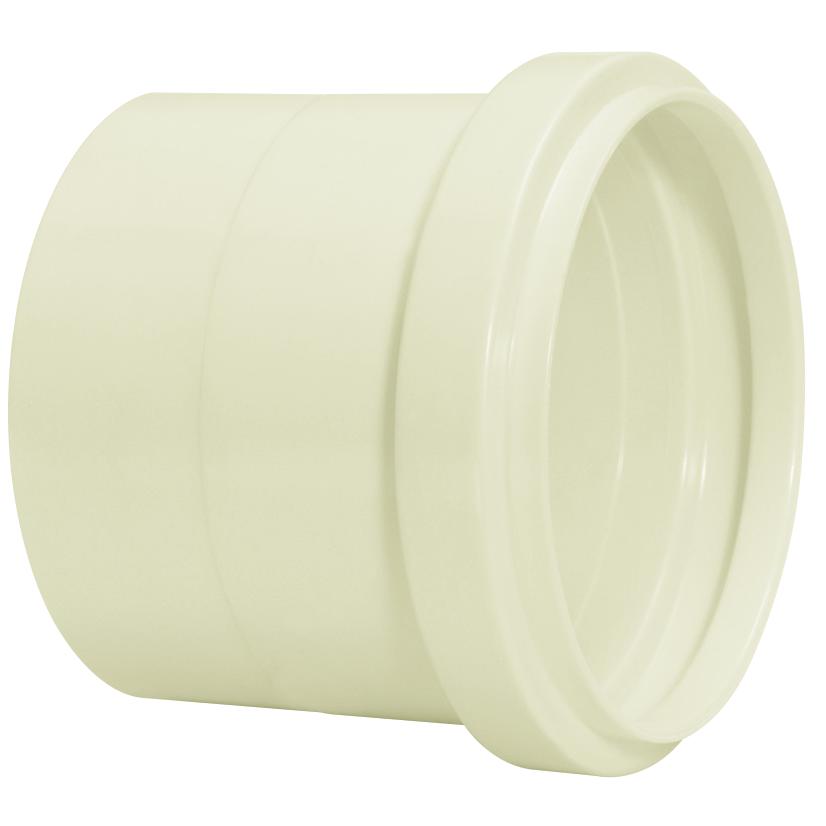 Luva Simples para Esgoto PVC Branco 100 mm - Amanco