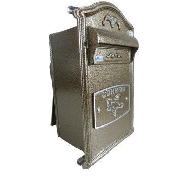 Porta-cartas Aluminio 37x19 cm Classic Bronze - Prates e Barbosa