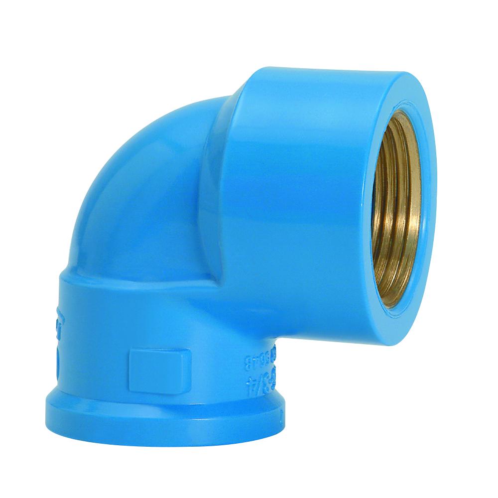 Joelho com Bucha de Latao 90 PVC Azul 20 mm - Amanco