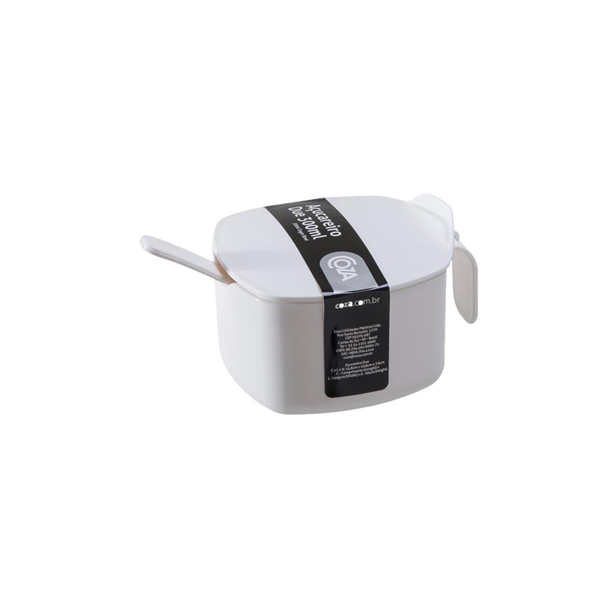 Acucareiro de Plastico 300 g Branco - Due Coza