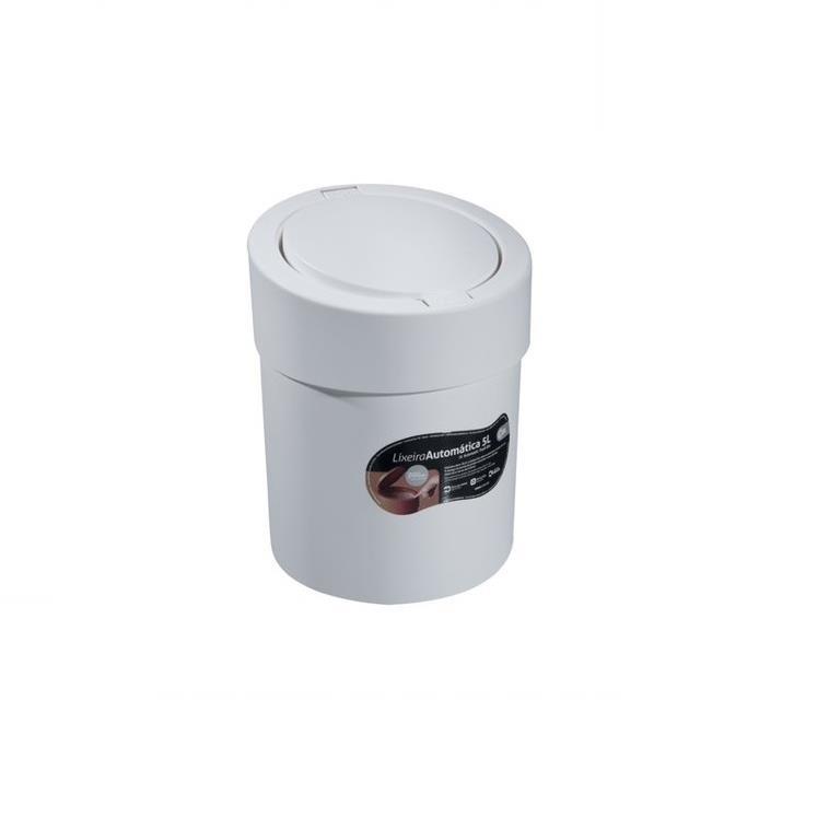 Lixeira Click de Plastico 50L Branca 109081 - Coza
