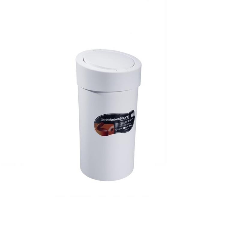 Lixeira Click de Plastico 90L Branca 109091 - Coza