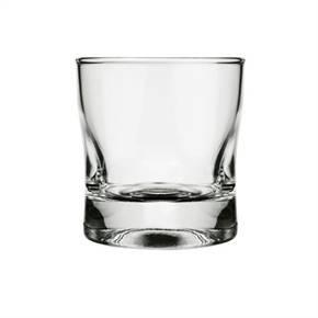 Jogo de Copos de Whisky Rocks de Vidro 6 Pecas 250ml Transparente Amassadinho - Nadir
