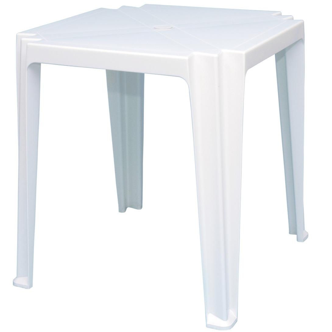 Mesa Plastica Tramontina Quadrada Branca 68x68 cm Tambau