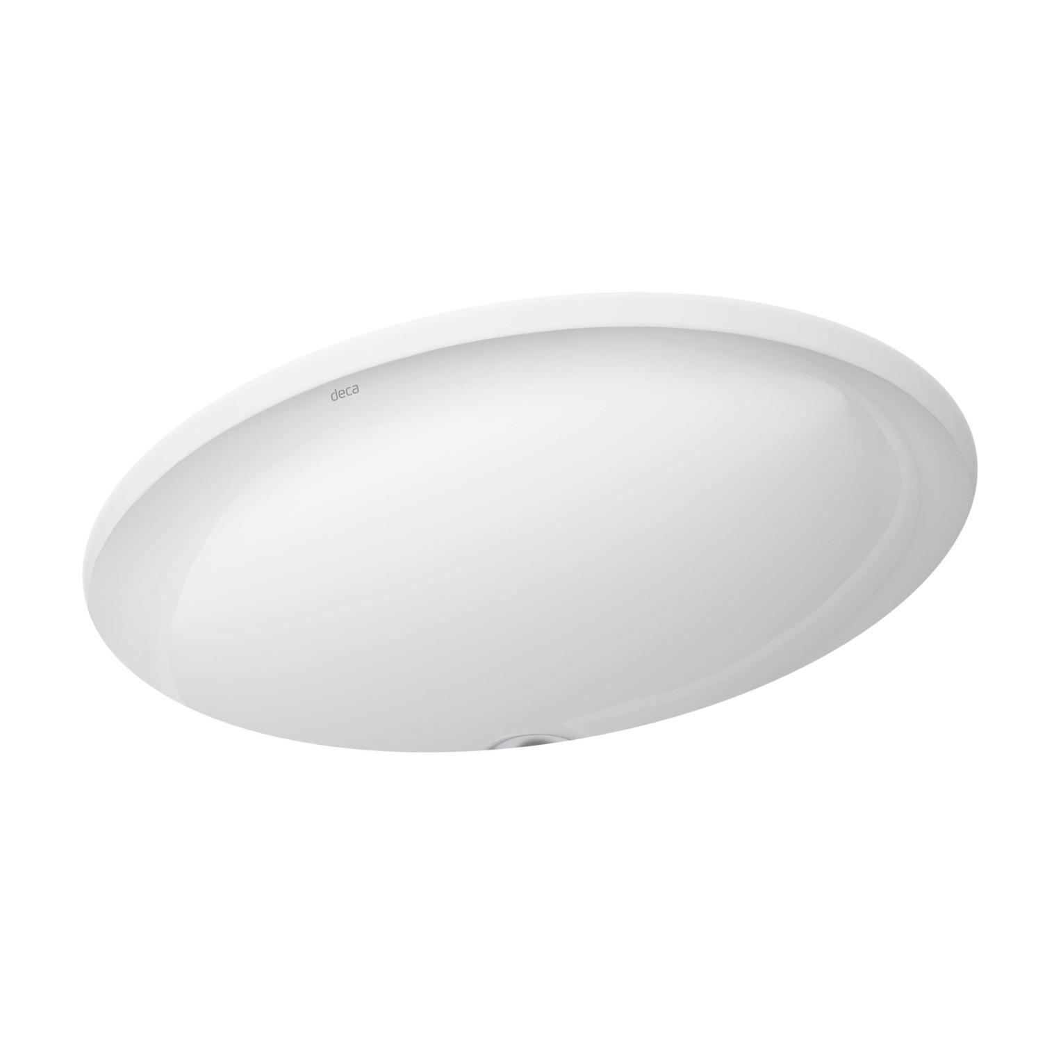 Cuba de Louca de Embutir Oval 48500x37500 cm Branco Gelo L3717 - Deca