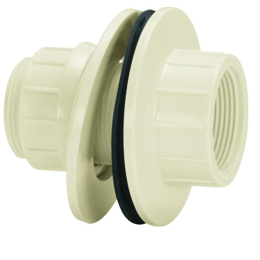 Adaptador Roscavel PVC Branco 2 com Anel - Amanco