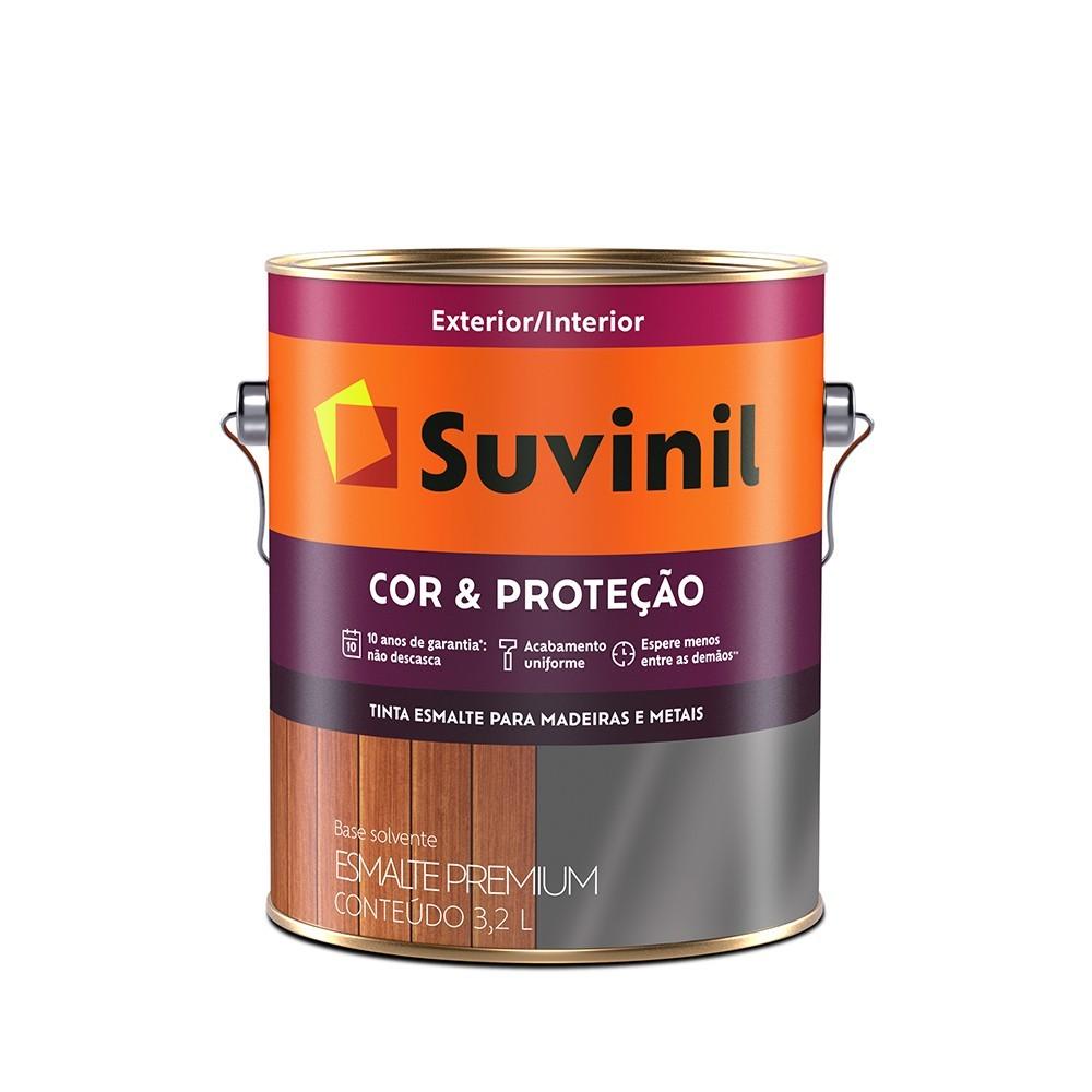 Tinta Esmalte Sintetico Brilhante Premium 36L - Preto - Cor E Protecao Suvinil