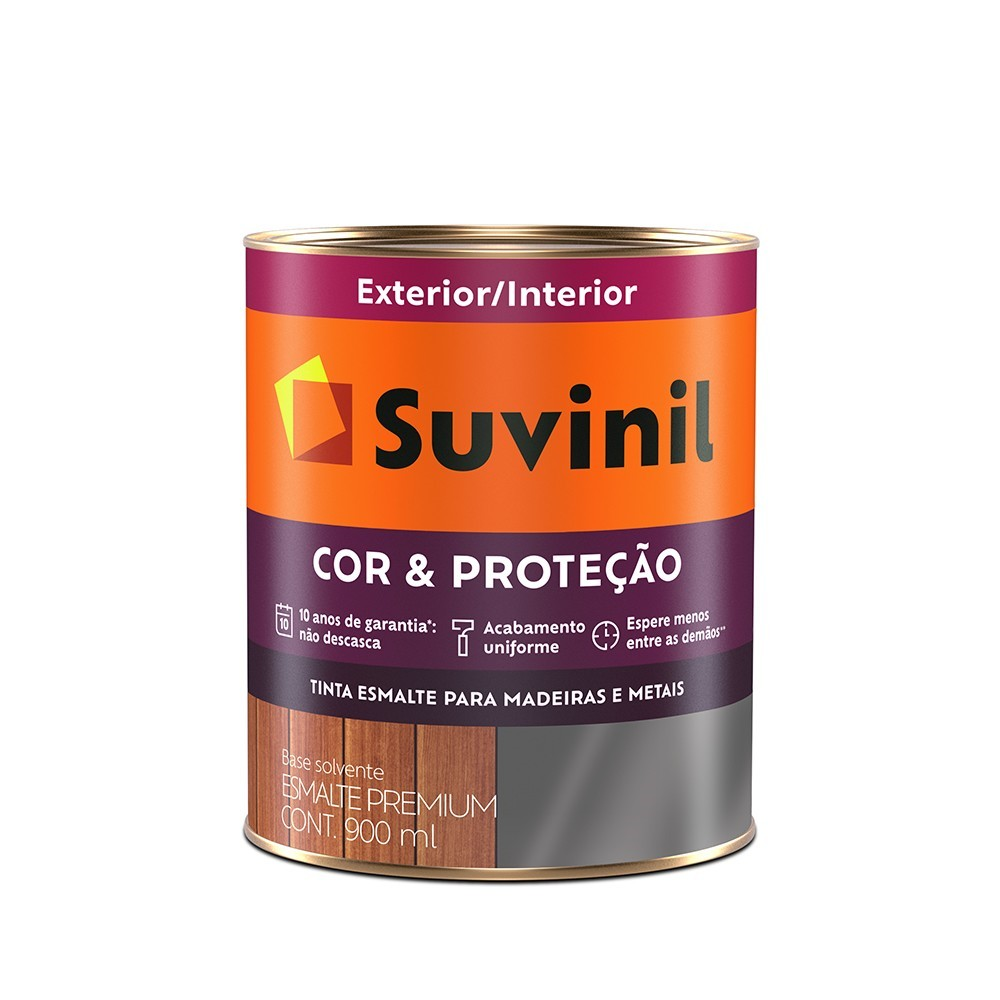 Tinta Esmalte Sintetico Fosco Premium 09L - Preto - Cor E Protecao Suvinil