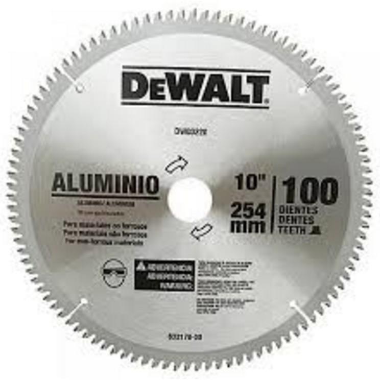 Disco de Corte Perfis Aluminio 10 254x300mm 100 Dentes - DeWalt