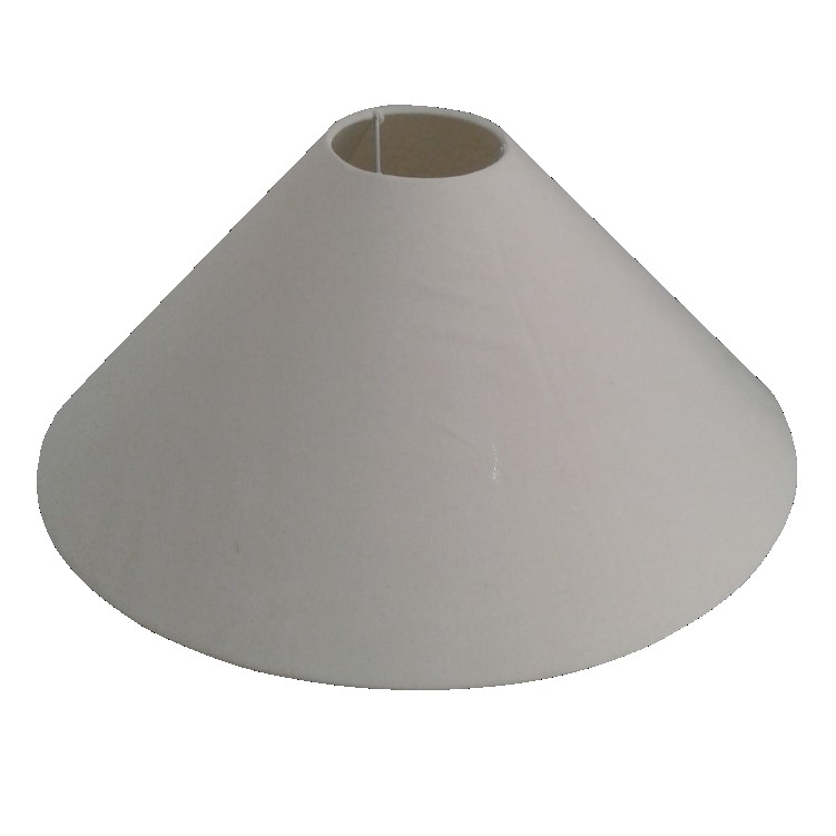 Cupula para Abajur Chinesa em Tecido 10cm x 45cm Branco - Cupulas Sao Jorge