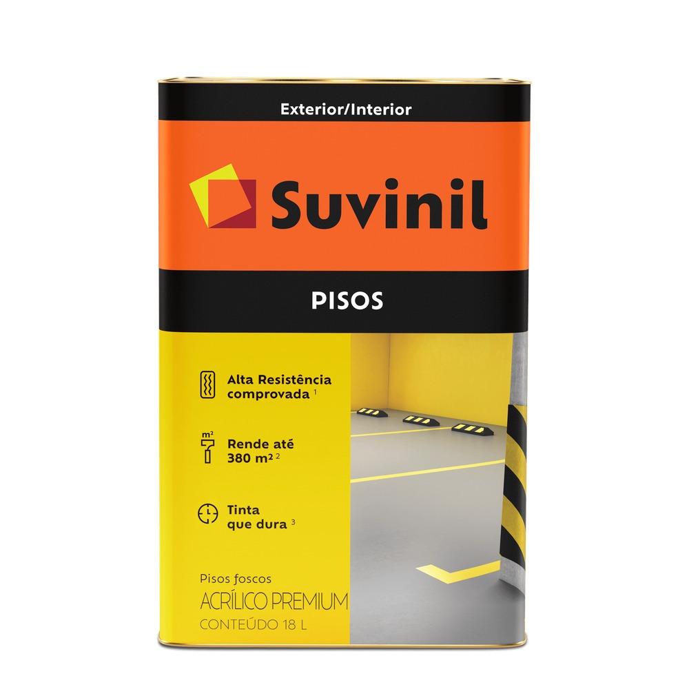 Tinta Acrilica Fosco Premium 18L - Preto - Suvinil