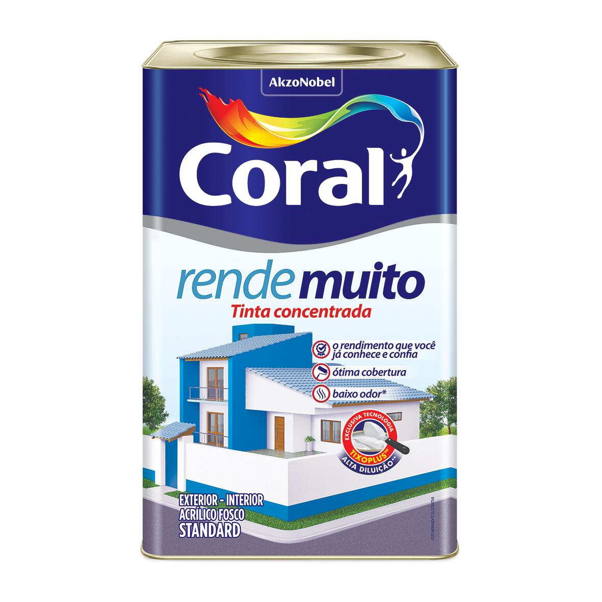 Tinta Acrilica Fosco Standard 18L - Perola - Rende Muito Coral