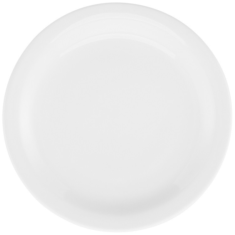 Prato Raso Redondo em Porcelana Gourmet Pro Branco 27cm - Oxford