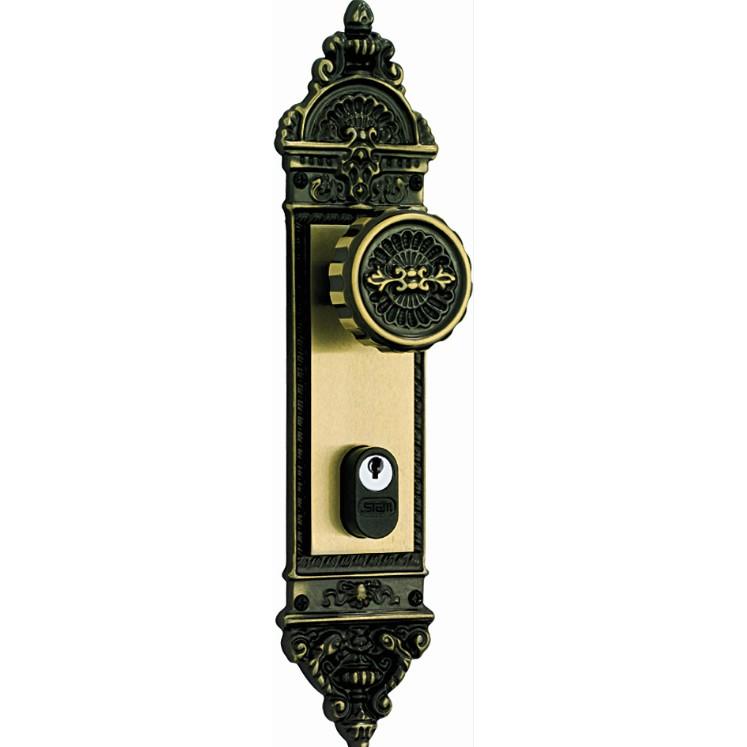 Fechadura Externa Espelho e Macaneta Zamac 150106 Fixa Colonial - Stam