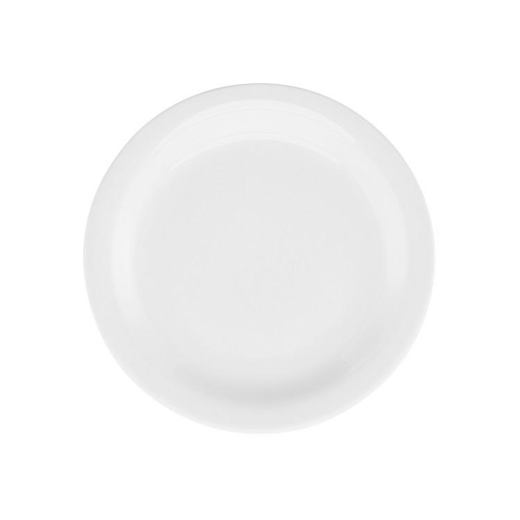 Prato de Sobremesa Redondo em Porcelana Gourmet Pro Branco 20cm - Oxford
