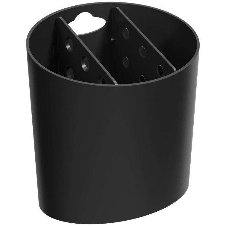 Escorredor de Talheres de Plastico Preto 108400008 - Coza