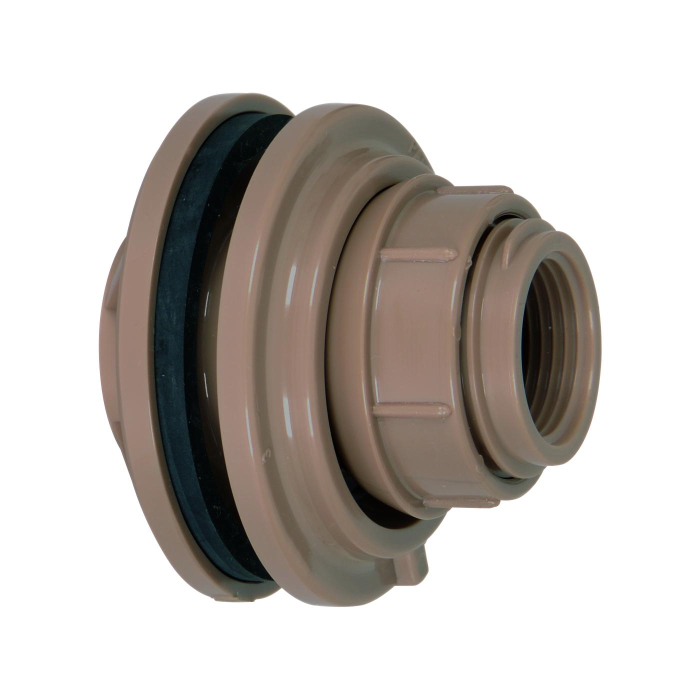 Adaptador Com Flange PVC Marrom 50 mm x 112 com Anel - Amanco