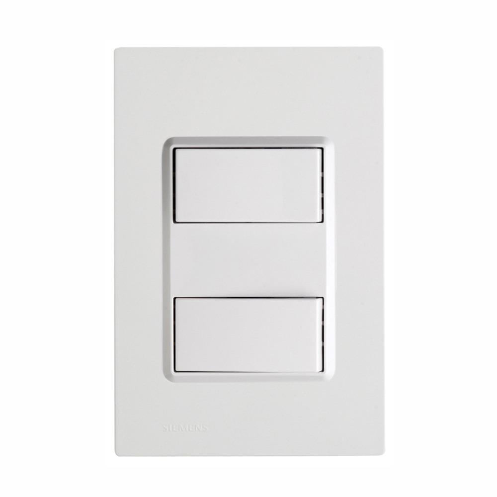Conjunto Interruptor Simples 2 Modulos 16A - Branco - Delta - Iriel