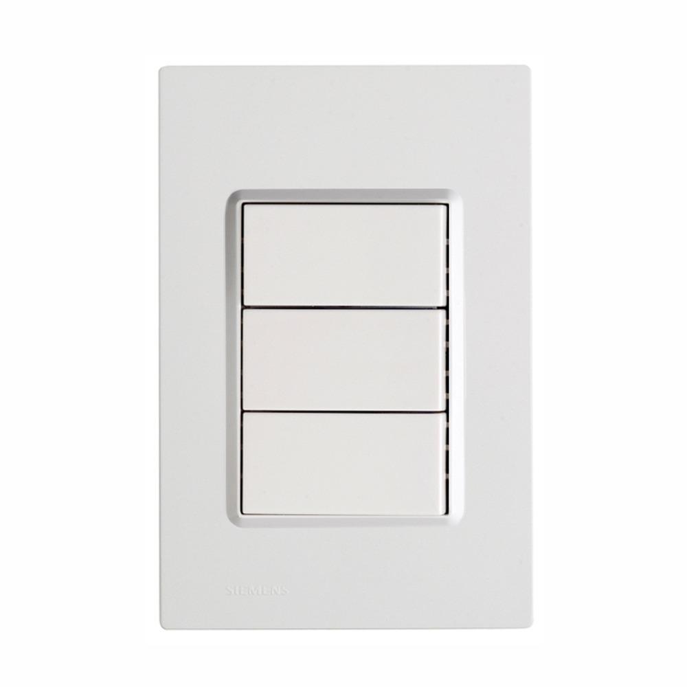 Conjunto Interruptor Simples 3 Modulos 16A - Branco - Delta - Iriel