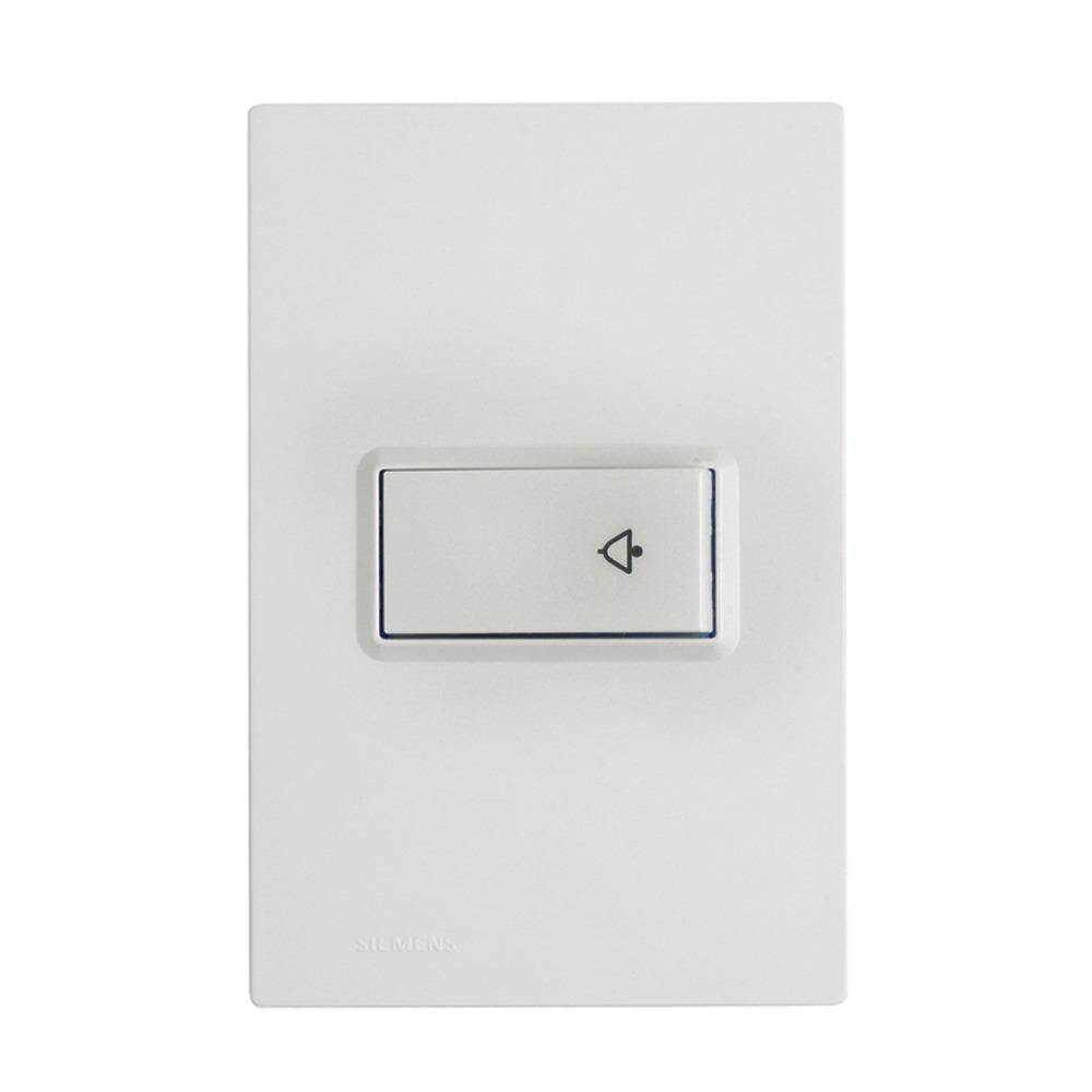 Conjunto Pulsador Campainha 1 Modulo 10A - Branco - Delta - Iriel