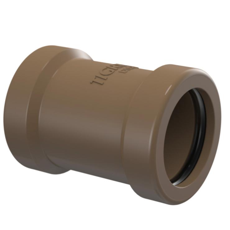 Luva de Correr Soldavel PVC Marrom 40 mm - Tigre