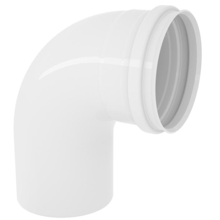 Curva Curto 90 para Esgoto PVC Rigido Branco 50 mm - Tigre