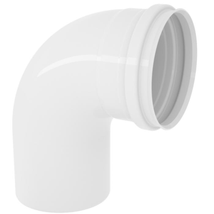 Curva Curto 90 para Esgoto PVC Rigido Branco 75 mm - Tigre