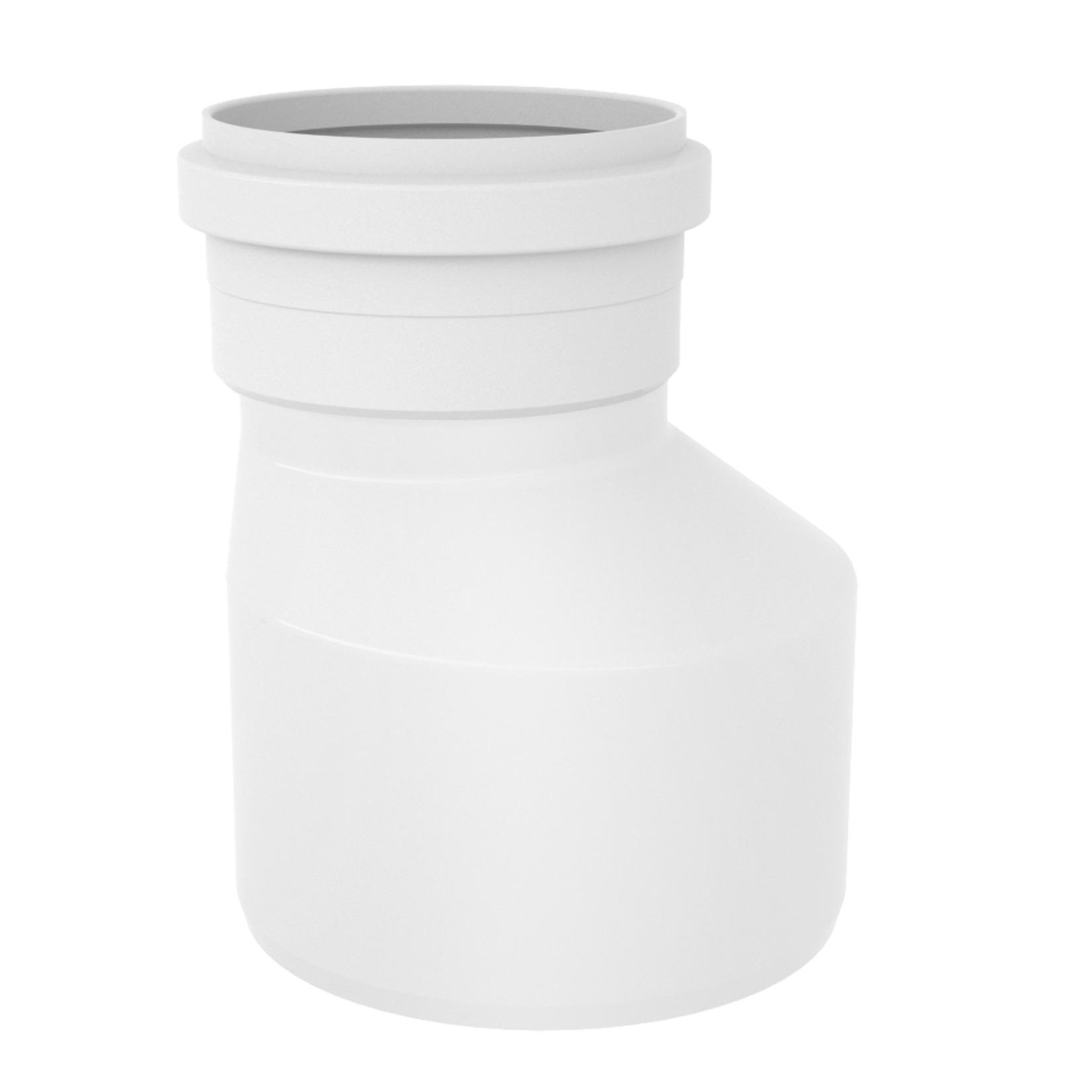 Reducao Excentrica para Esgoto PVC Branco 100 mm x 75 mm - Tigre