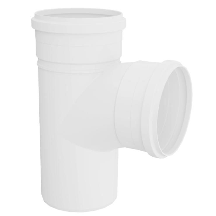 Te Curto para Esgoto PVC Rigido Branco 100 mm - Tigre