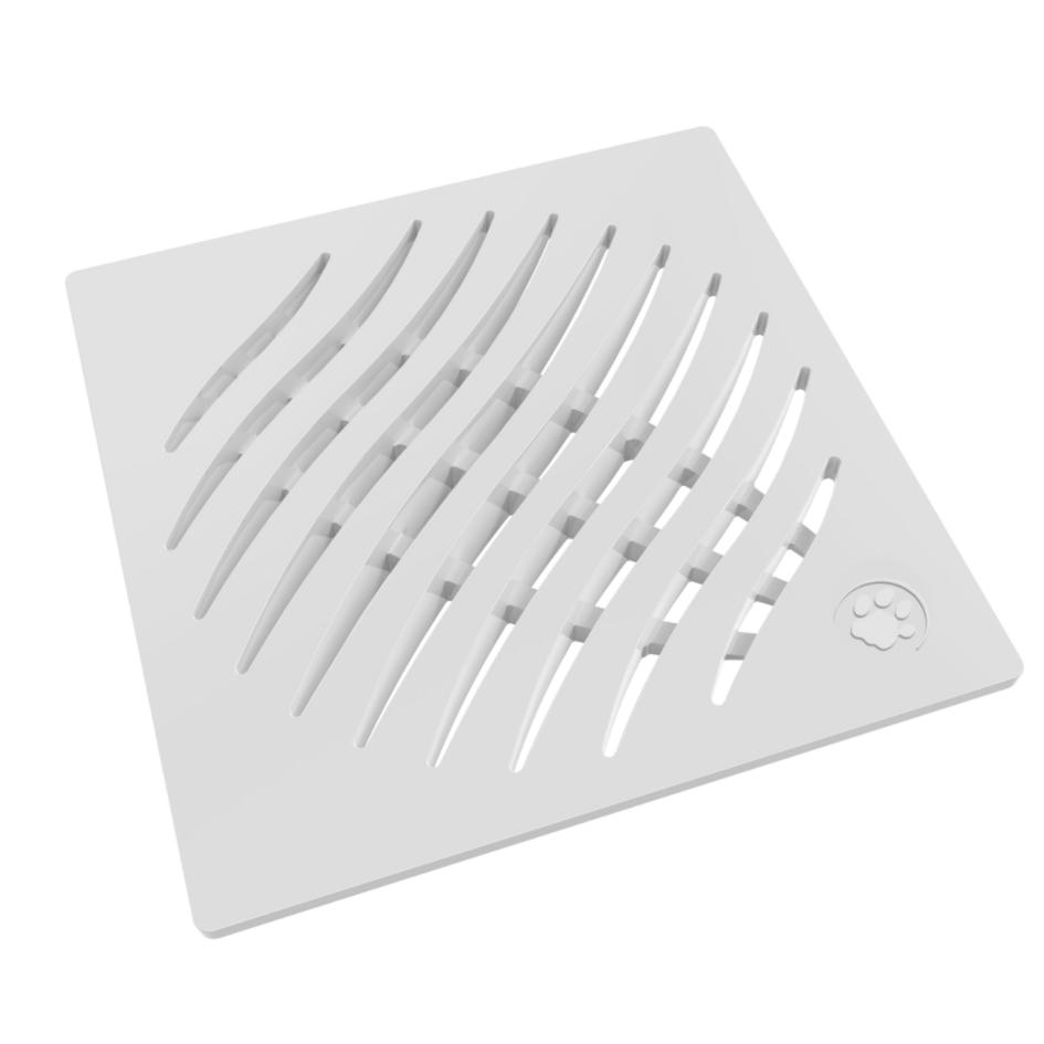 Grelha de Plastico Quadrada para Esgoto Branca 150mm - Tigre
