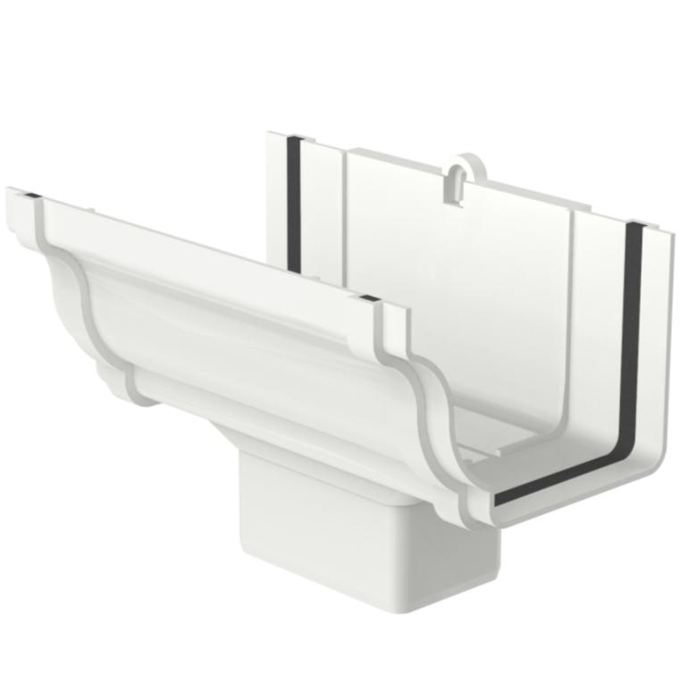 Bocal de PVC Retangular 100 x 65 mm Branco - Aquapluv Tigre
