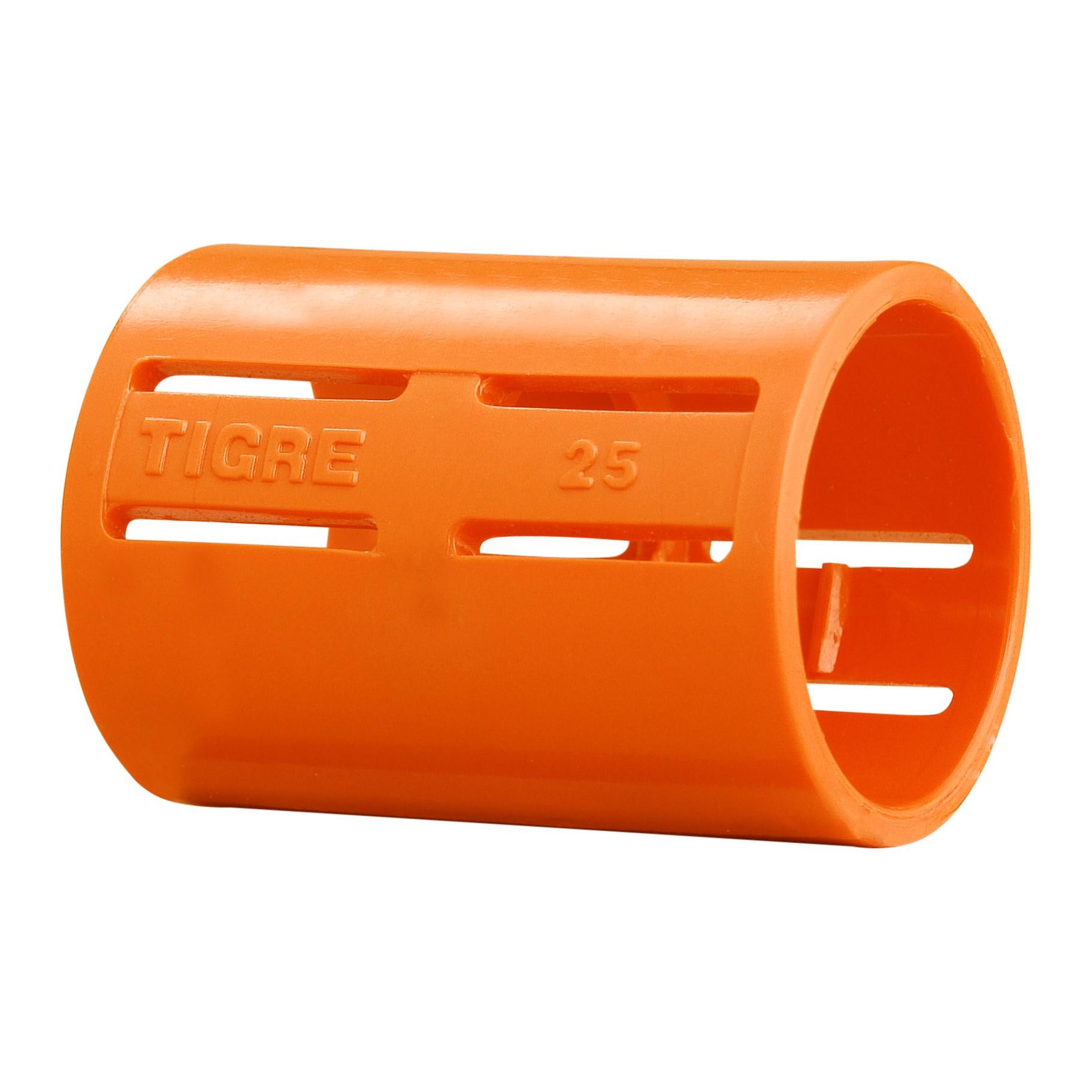 Luva Pressao 34 PVC Antichamas Laranja - Tigre