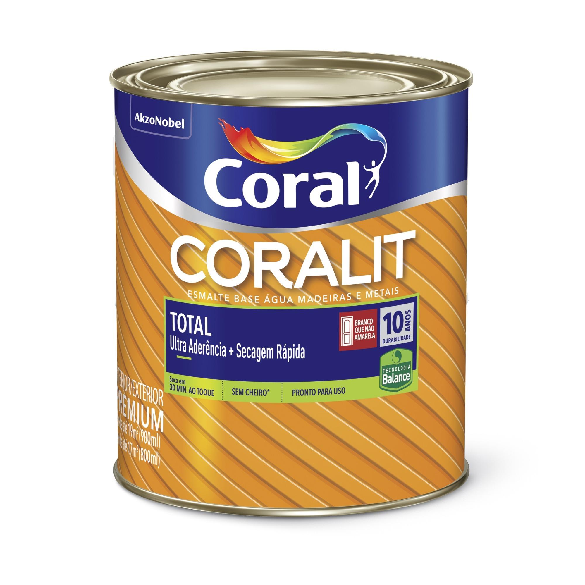 Tinta Esmalte Sintetico Brilhante Premium 09L - Amarelo - Coralit Zero Coral