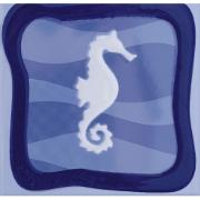 Revestimento de Parede Brilhante Unidade 15x15cm Azul Garopaba A - Eliane