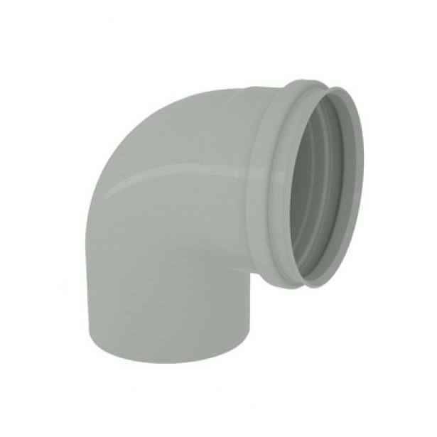 Joelho 90 para Esgoto Reforcado PVC Rigido Cinza 50 mm - Tigre