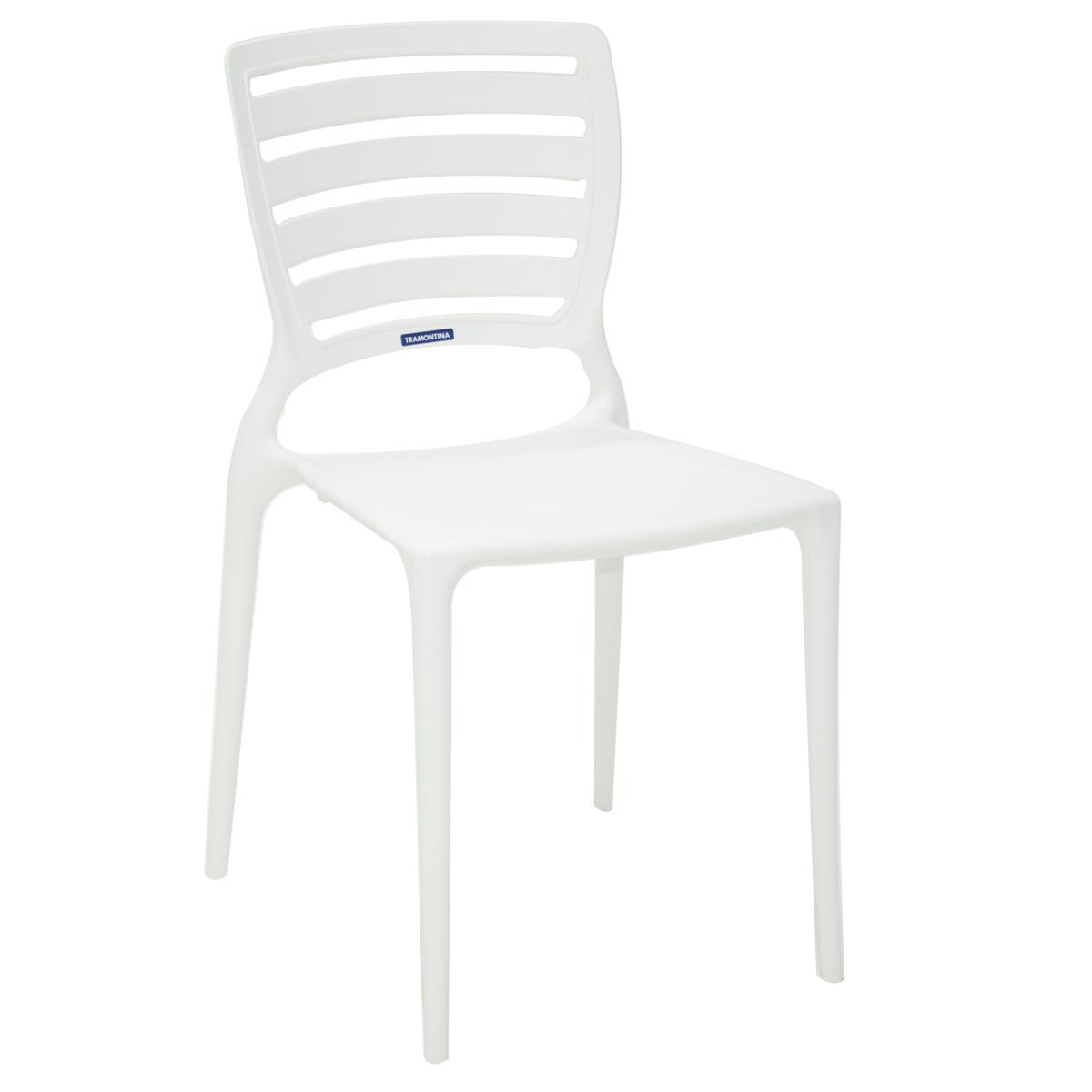 Cadeira Tramontina Sofia em Polipropileno Branca Encosto Horizontal