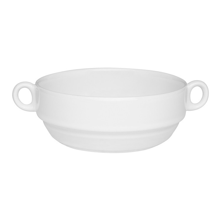 Tigela Funda de Porcelana Redonda Gourmet 300ml Branco - Oxford