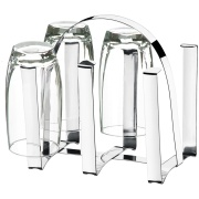 Escorredor de Copos de Aço Inox Polido 6 Copos Prata - Brinox