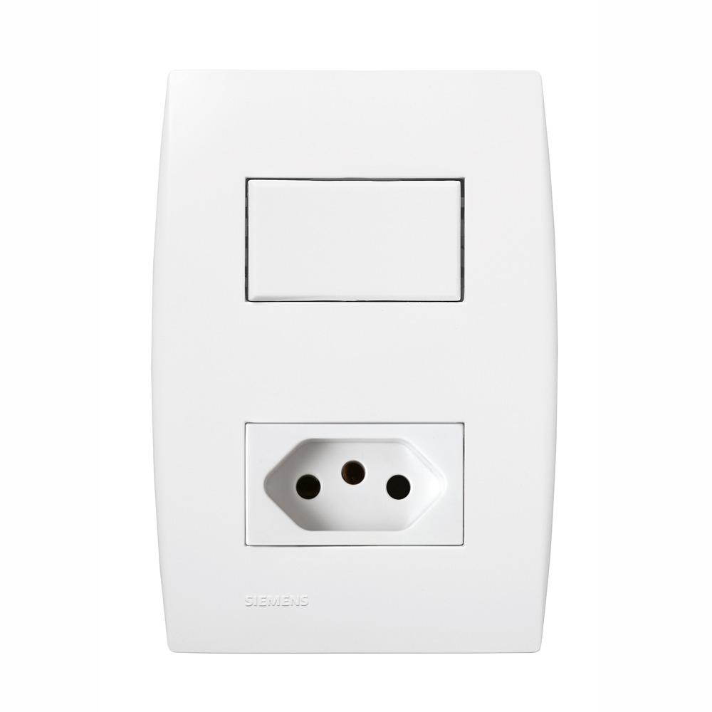 Conjunto Simples 1 interruptor 1 tomada 20A Ilus - Iriel