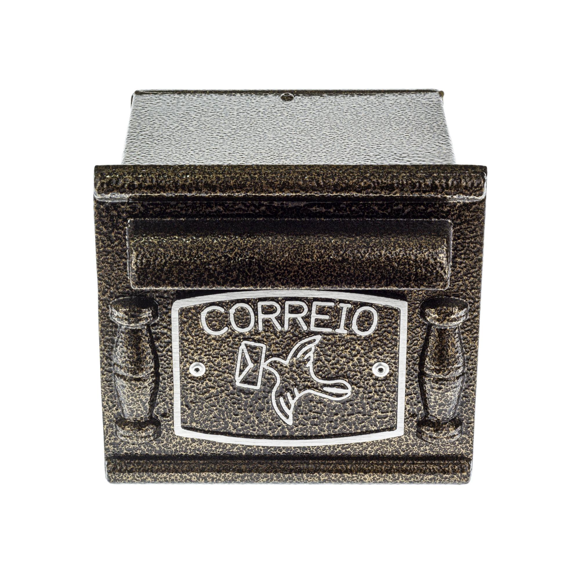 Porta-cartas Aluminio 15x17 cm Depop Bronze - Prates e Barbosa