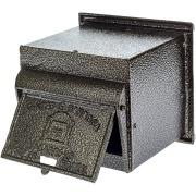 Porta-cartas Alumínio 15x17 cm Depop Bronze - Prates e Barbosa