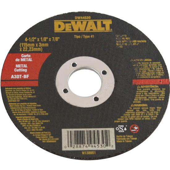 Disco de Corte Metal 412x18x78 115x30x2223mm - DeWalt